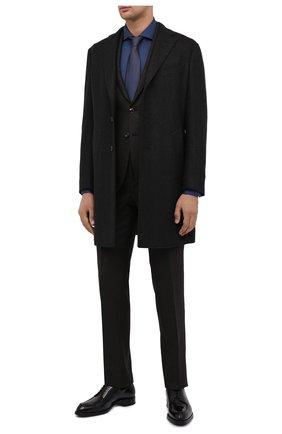 Мужской кожаные дерби BRIONI черного цвета, арт. QE1D0L/P6757 | Фото 2