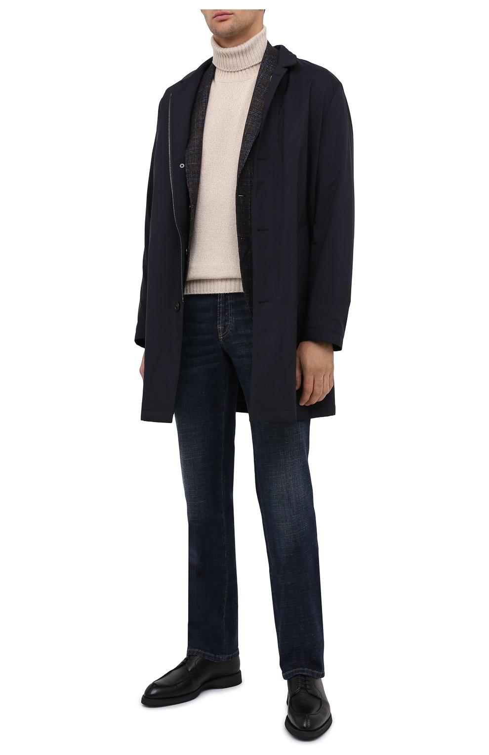 Мужские кожаные дерби BRIONI черного цвета, арт. QE2A0L/P7731   Фото 2