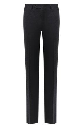 Мужские шерстяные брюки CANALI темно-серого цвета, арт. 71012/AN00019 | Фото 1