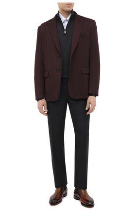 Мужские шерстяные брюки CANALI темно-серого цвета, арт. 71012/AN00019 | Фото 2