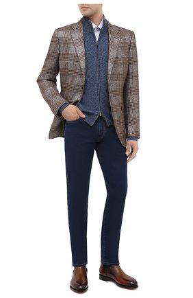 Мужские джинсы CANALI темно-синего цвета, арт. 91700R/PD00832 | Фото 2
