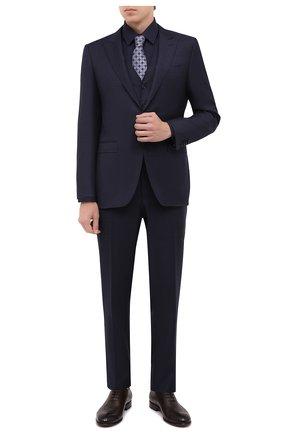 Мужской шерстяной костюм-тройка CANALI темно-синего цвета, арт. 19227/93/BF00279 | Фото 1