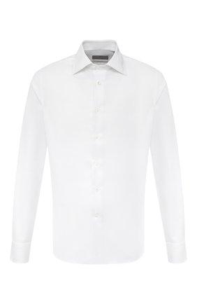 Мужская хлопковая сорочка CANALI белого цвета, арт. NX05/GR01926 | Фото 1