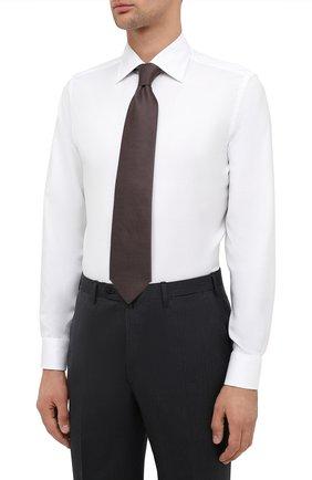 Мужская хлопковая сорочка CANALI белого цвета, арт. NX05/GR01926 | Фото 4