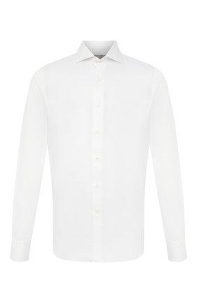 Мужская хлопковая сорочка CANALI белого цвета, арт. NX58/GR01925 | Фото 1