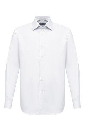 Мужская хлопковая сорочка CANALI белого цвета, арт. 705/GA00327 | Фото 1