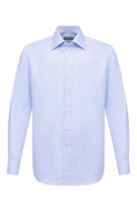 Мужская хлопковая сорочка CANALI голубого цвета, арт. 705/GA00327 | Фото 1 (Рукава: Длинные; Материал внешний: Хлопок; Длина (для топов): Стандартные; Случай: Формальный; Стили: Кэжуэл)