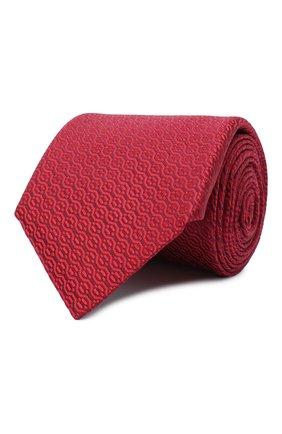 Мужской шелковый галстук CANALI красного цвета, арт. 70/HJ02839 | Фото 1