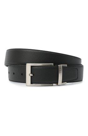 Мужской кожаный ремень CANALI черного цвета, арт. 50C/KA00304 | Фото 1
