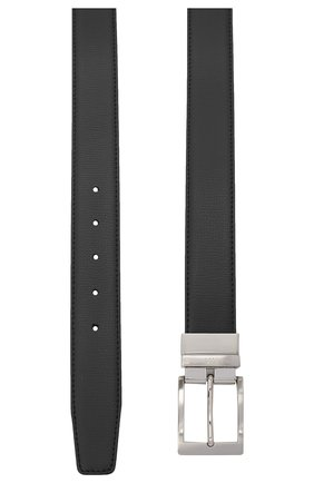 Мужской кожаный ремень CANALI черного цвета, арт. 50C/KA00304 | Фото 2