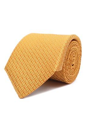 Мужской шелковый галстук CANALI желтого цвета, арт. 18/HJ02839 | Фото 1