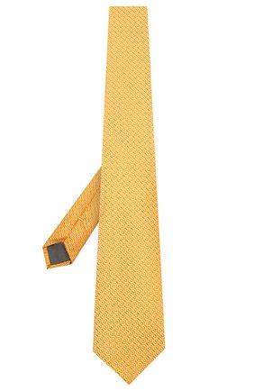 Мужской шелковый галстук CANALI желтого цвета, арт. 18/HJ02839 | Фото 2