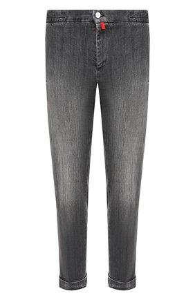 Мужские джинсы KITON серого цвета, арт. UFPLAC/J02T63 | Фото 1