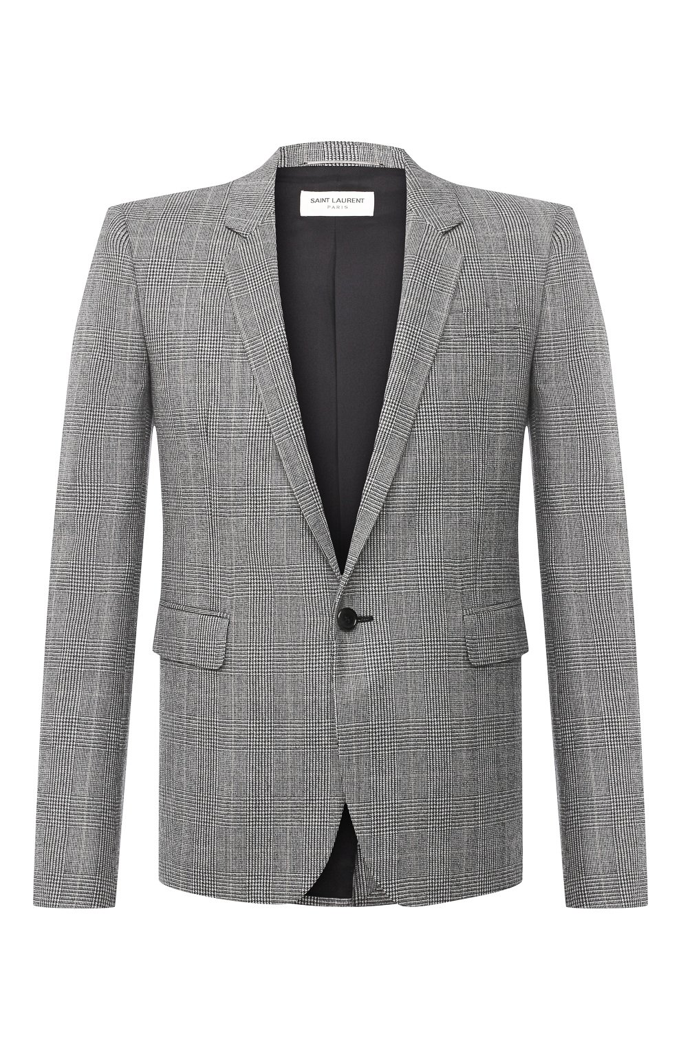 Мужской шерстяной пиджак SAINT LAURENT серого цвета, арт. 600331/Y1B54 | Фото 1