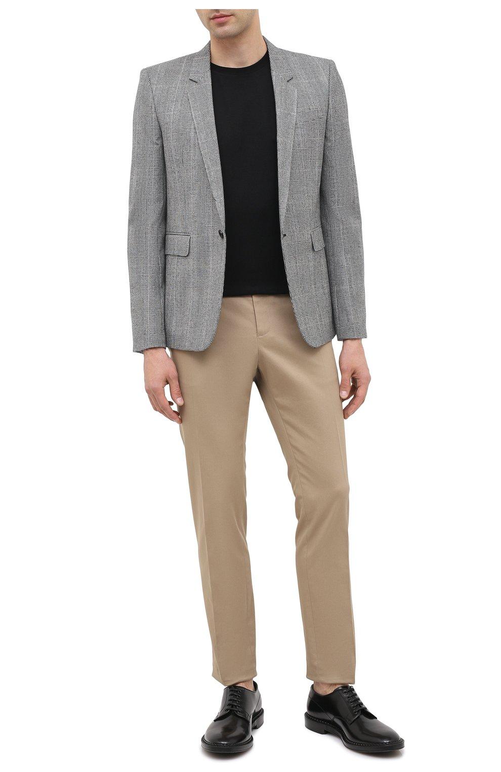 Мужской шерстяной пиджак SAINT LAURENT серого цвета, арт. 600331/Y1B54 | Фото 3