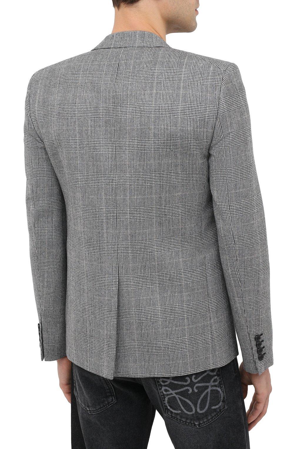 Мужской шерстяной пиджак SAINT LAURENT серого цвета, арт. 600331/Y1B54 | Фото 5