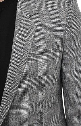Мужской шерстяной пиджак SAINT LAURENT серого цвета, арт. 600331/Y1B54 | Фото 6