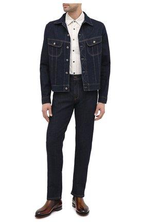 Мужская джинсовая куртка RALPH LAUREN темно-синего цвета, арт. 790799577 | Фото 2