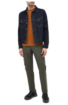 Мужская джинсовая куртка RALPH LAUREN темно-синего цвета, арт. 790799577 | Фото 3