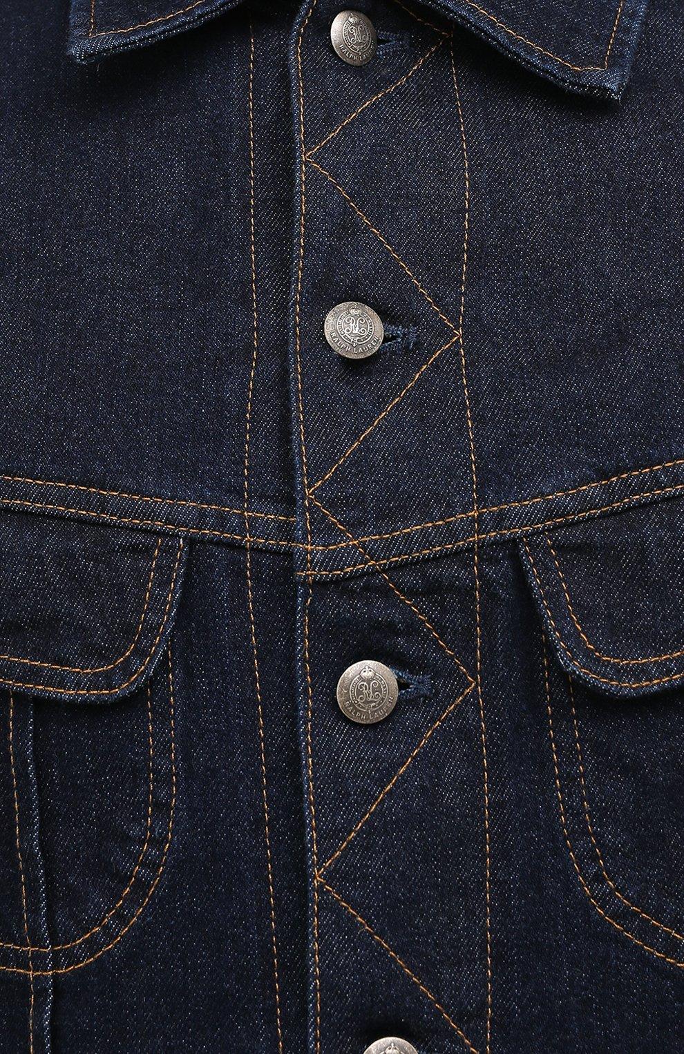 Мужская джинсовая куртка RALPH LAUREN темно-синего цвета, арт. 790799577 | Фото 6