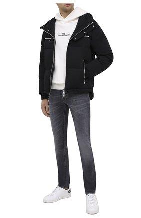 Мужская пуховая куртка BALMAIN черного цвета, арт. UH18817/X113 | Фото 2