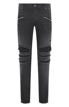 Мужские джинсы BALMAIN серого цвета, арт. UH15419/Z039 | Фото 1