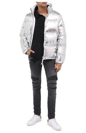 Мужские джинсы BALMAIN серого цвета, арт. UH15419/Z039 | Фото 2