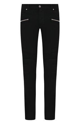 Мужские джинсы BALMAIN черного цвета, арт. UH15130/Z119 | Фото 1