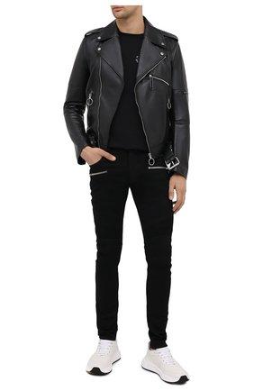 Мужские джинсы BALMAIN черного цвета, арт. UH15130/Z119 | Фото 2