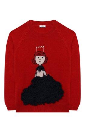 Детский шерстяной пуловер IL GUFO красного цвета, арт. A20MA335EM220/5A-8A | Фото 1