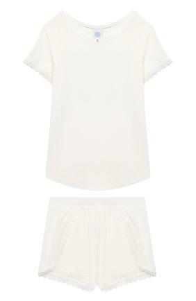 Детская пижама SANETTA белого цвета, арт. 244688 | Фото 1