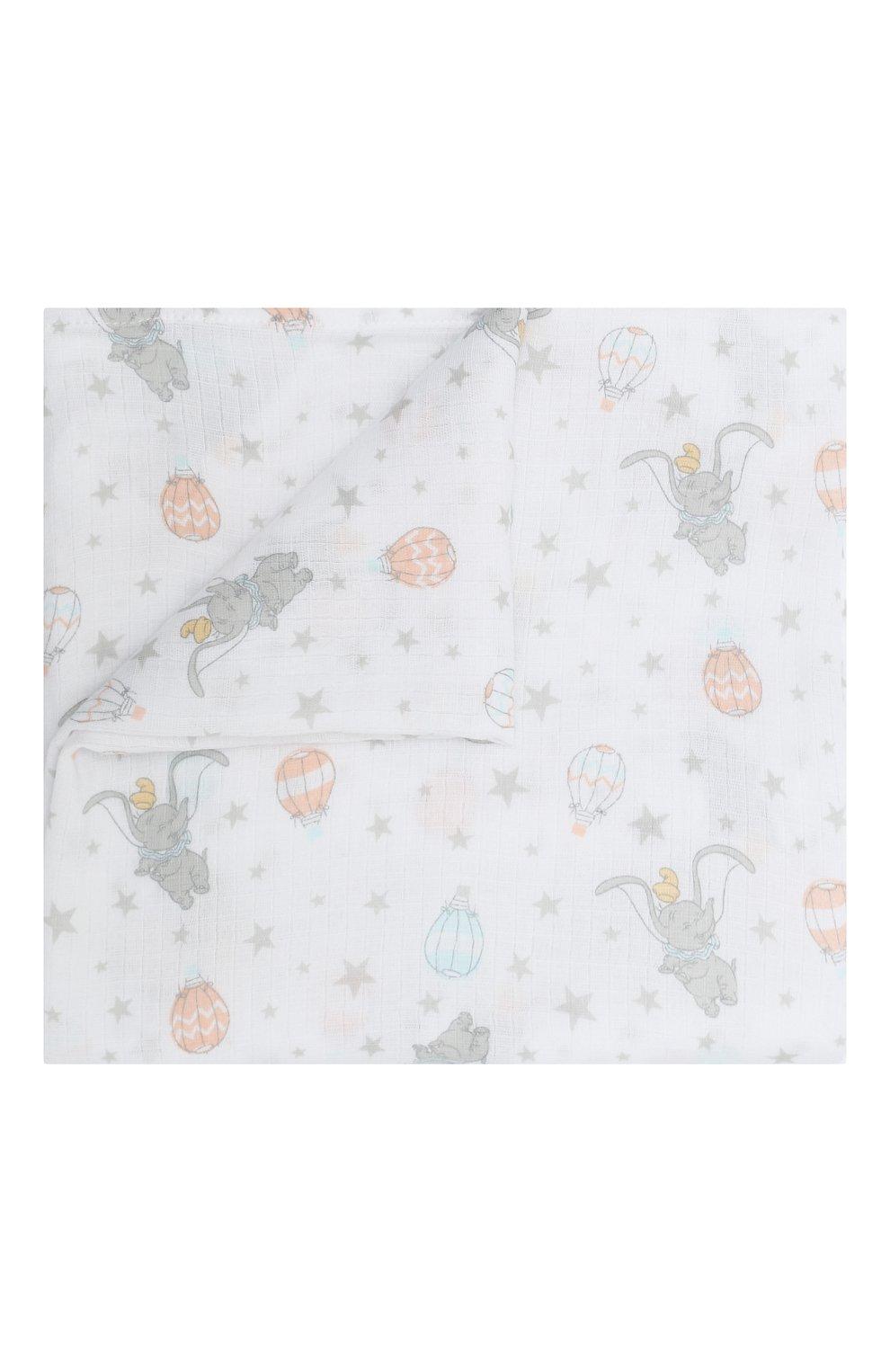 Детского комплект из четырех пеленок ADEN+ANAIS разноцветного цвета, арт. ESWC40007DIB   Фото 3
