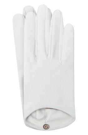 Женские кожаные перчатки GIORGIO ARMANI белого цвета, арт. 794217/0A221 | Фото 1