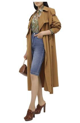 Женские кожаные мюли RALPH LAUREN коричневого цвета, арт. 800818971 | Фото 2