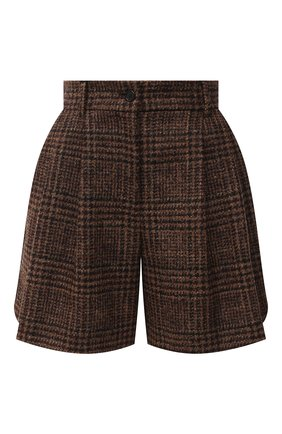 Женские шерстяные шорты DOLCE & GABBANA коричневого цвета, арт. FTBWMT/FQMH8 | Фото 1