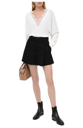 Женский пуловер из шерсти и шелка CHLOÉ белого цвета, арт. CHC20AMP98950   Фото 2