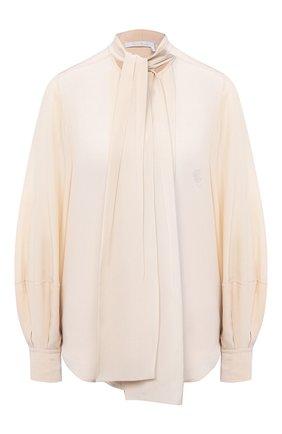 Женская шелковая блузка CHLOÉ розового цвета, арт. CHC20AHT89004 | Фото 1
