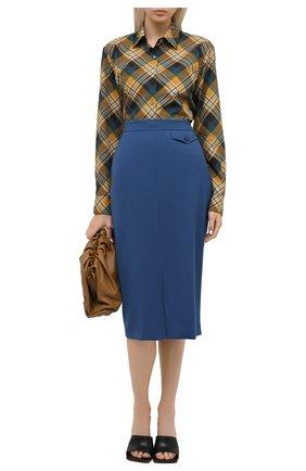 Женская шерстяная юбка ESCADA синего цвета, арт. 5033664 | Фото 2