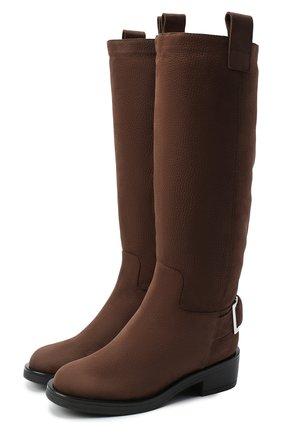 Женские кожаные сапоги SERGIO ROSSI коричневого цвета, арт. A91880-MMVR19 | Фото 1