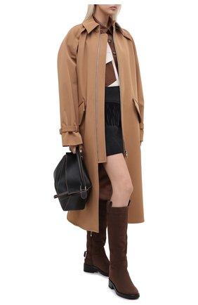Женские кожаные сапоги SERGIO ROSSI коричневого цвета, арт. A91880-MMVR19 | Фото 2