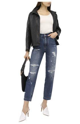 Женские джинсы DOLCE & GABBANA синего цвета, арт. FTBXGD/G8CT6 | Фото 2