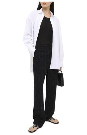 Женские брюки BALENCIAGA черного цвета, арт. 622011/TILT7   Фото 2
