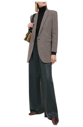 Женские кожаные брюки MASLOV зеленого цвета, арт. BR101 | Фото 2