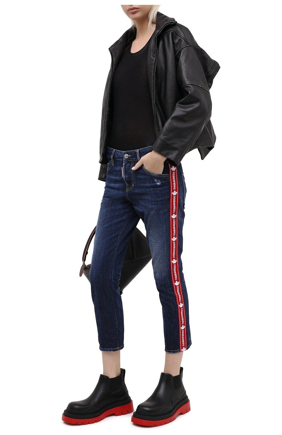Женские джинсы DSQUARED2 синего цвета, арт. S75LB0411/S30309   Фото 3