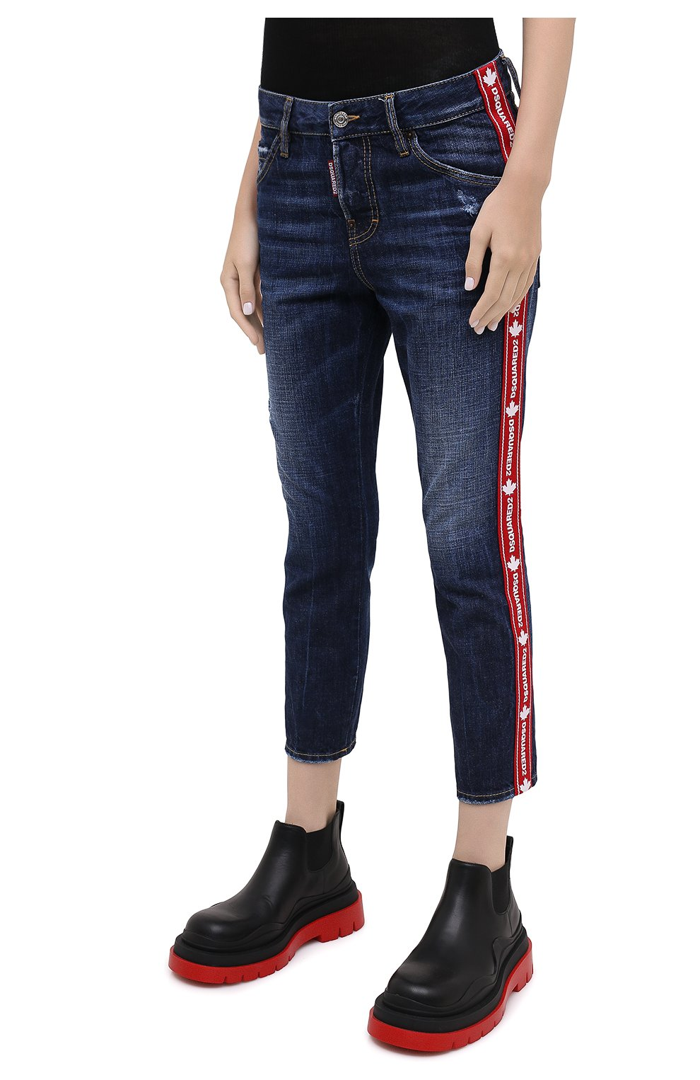Женские джинсы DSQUARED2 синего цвета, арт. S75LB0411/S30309   Фото 4