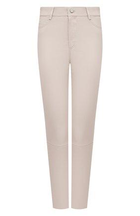 Женские кожаные брюки DROME бежевого цвета, арт. DPD1590P/D1835P | Фото 1
