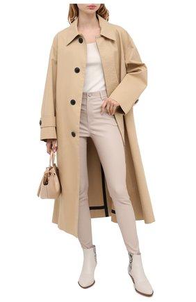 Женские кожаные брюки DROME бежевого цвета, арт. DPD1590P/D1835P | Фото 2