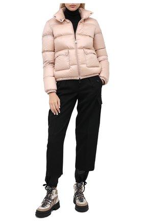 Женский пуховик MONCLER светло-розового цвета, арт. F2-093-1A202-00-C0229 | Фото 2