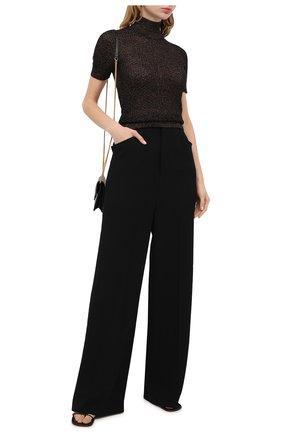 Женская пуловер из шерсти и вискозы DOLCE & GABBANA коричневого цвета, арт. FX956T/JAM7M | Фото 2