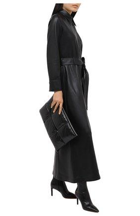 Женские кожаные ботильоны SANTONI черного цвета, арт. WTA058951HA2NSZAN01   Фото 2